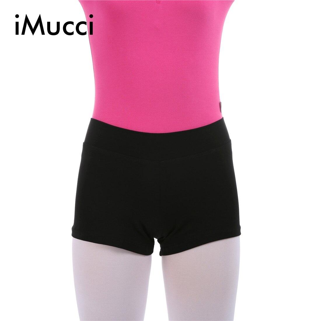 IMucci High Waist Elastic Cotton Ballet Shorts Black Ballerina Gymnastic Leotards Short Training ...