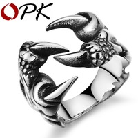 OPK JEWELRY Hot Selling Men S Titanium Steel Punk Claws Ring Casual Trendy Masculinos Jewelry Accessories