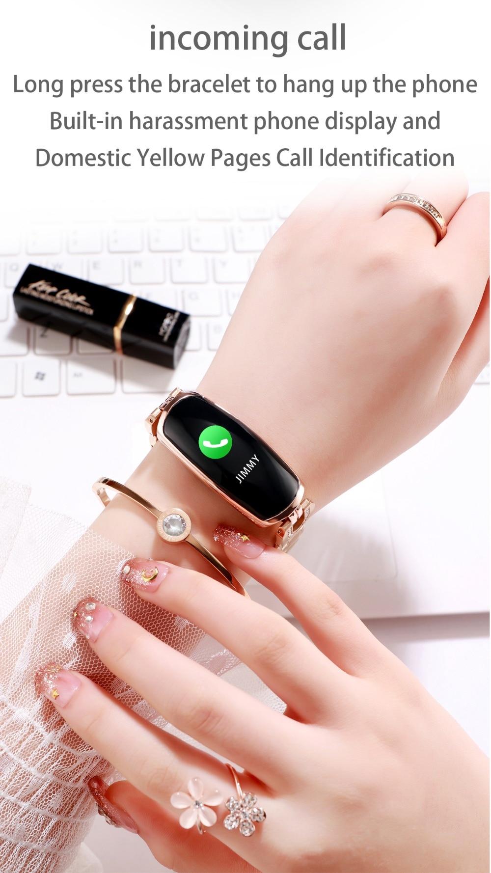 AK16 női intelligens zenekar fitnesz karkötő pulzusszám intelligens karkötő vérnyomás WristWatch Fitness Tracker SmartWatch Smartband (11)