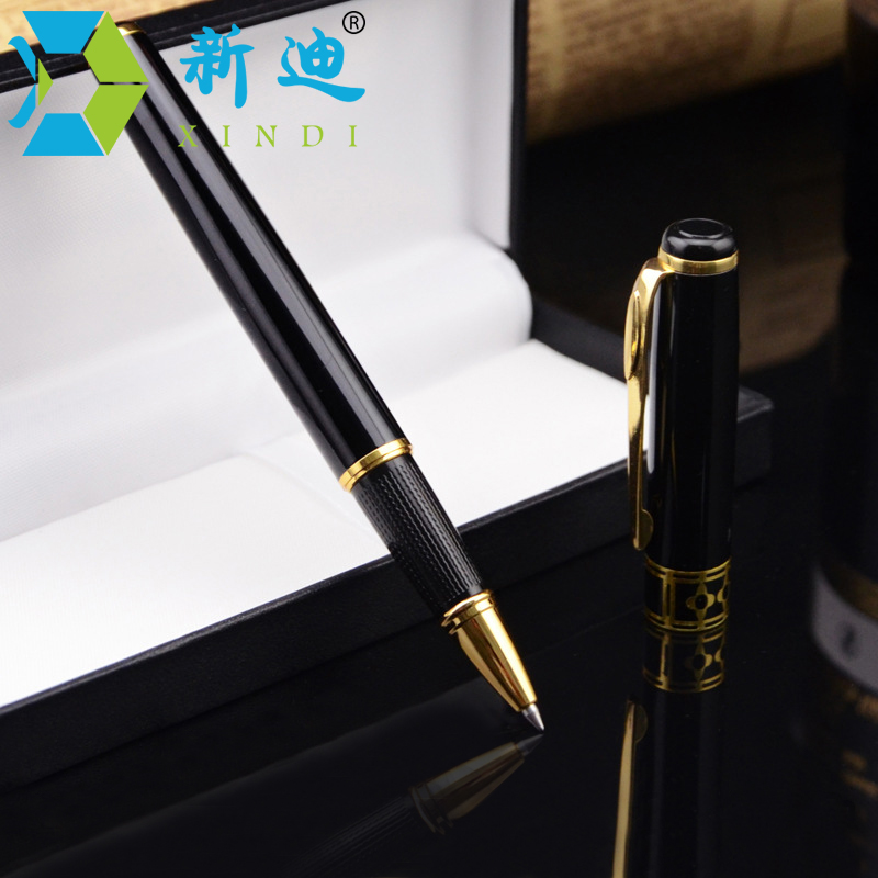 Free With Gift Box Hot Sale 0.5mm Lapices Gel Metal High-end Business Gel Ink Pen Office Supplies Stationery Gel Pens luxury business office gift stationery gold clip fountain pen grey black fine point ink pens with a high end gift box