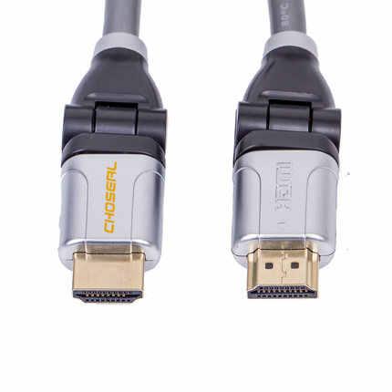 Choseal 30th anniversary QS8135 HDMI кабель между мужчинами 360 градусов поворотный терминал 3D 4 к * 2 к HDMI 2,0 в кабель