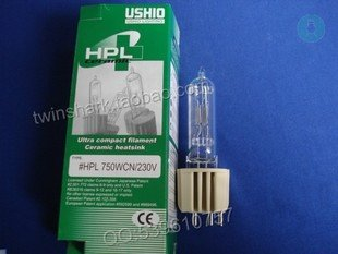 FREE SHIPPING Ushio HPL750WCN/230V 230V 750W G9.5 LAMP FOR  PROFILE SPOTLIGHT STAGE