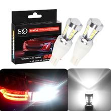 1000Lm T15 светодиодный Canbus OBC безотказные лампы t15 светодиодный Клин лампы заднего хода 921 912 W16W светодиодный Canbus стоп-сигнал автомобиля Белый D030