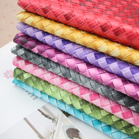 50*136cm 1mm thick Woven PU leather fabric for sewing PU artificial leather for DIY bag sofa decorative