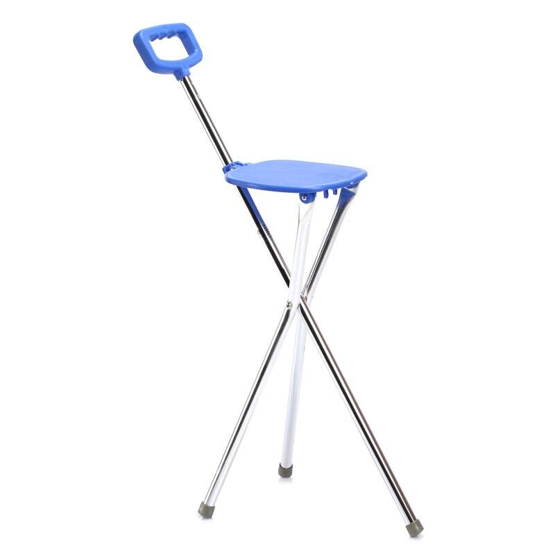Складной алюминиевый штатив тростника кресло для отдыха на природе Портативный трость с пластиковым сиденьем Нескользящие ноги трость Outerdoor инструмент