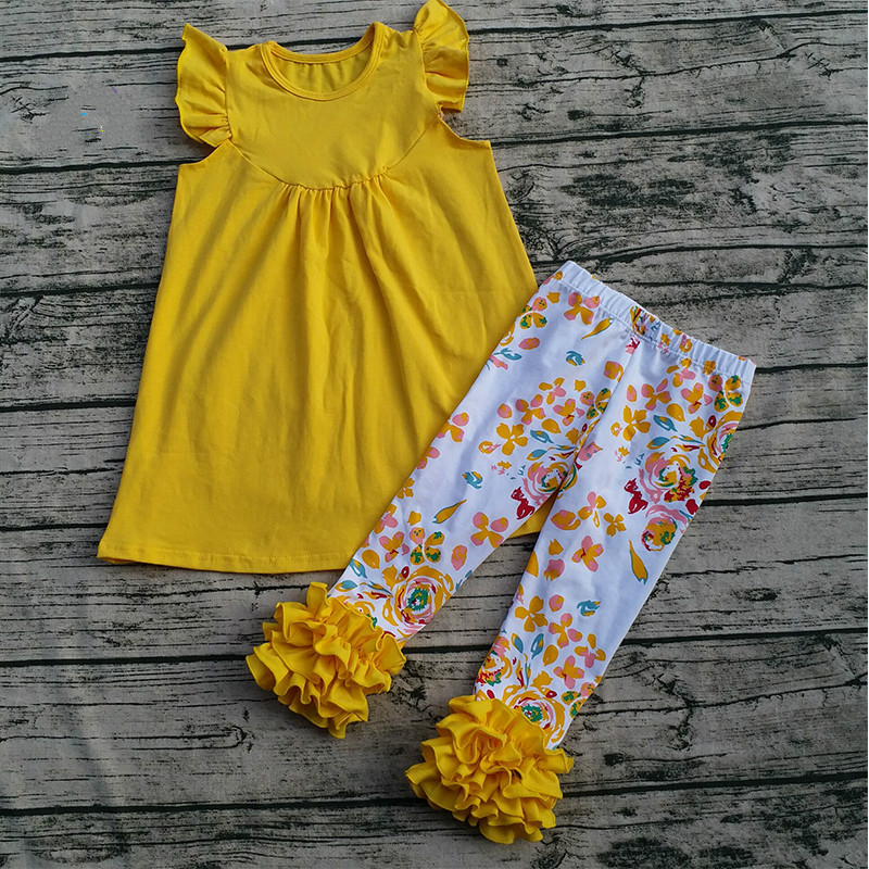 2018 toddler girl boutique outfits flora icing legging outfit flutter sleeve dress bouti ...