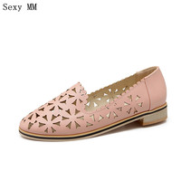 High Quality Summer Style Women Cut Outs Casual Flats Slip On Oxford Shoes Loafers Woman Flat
