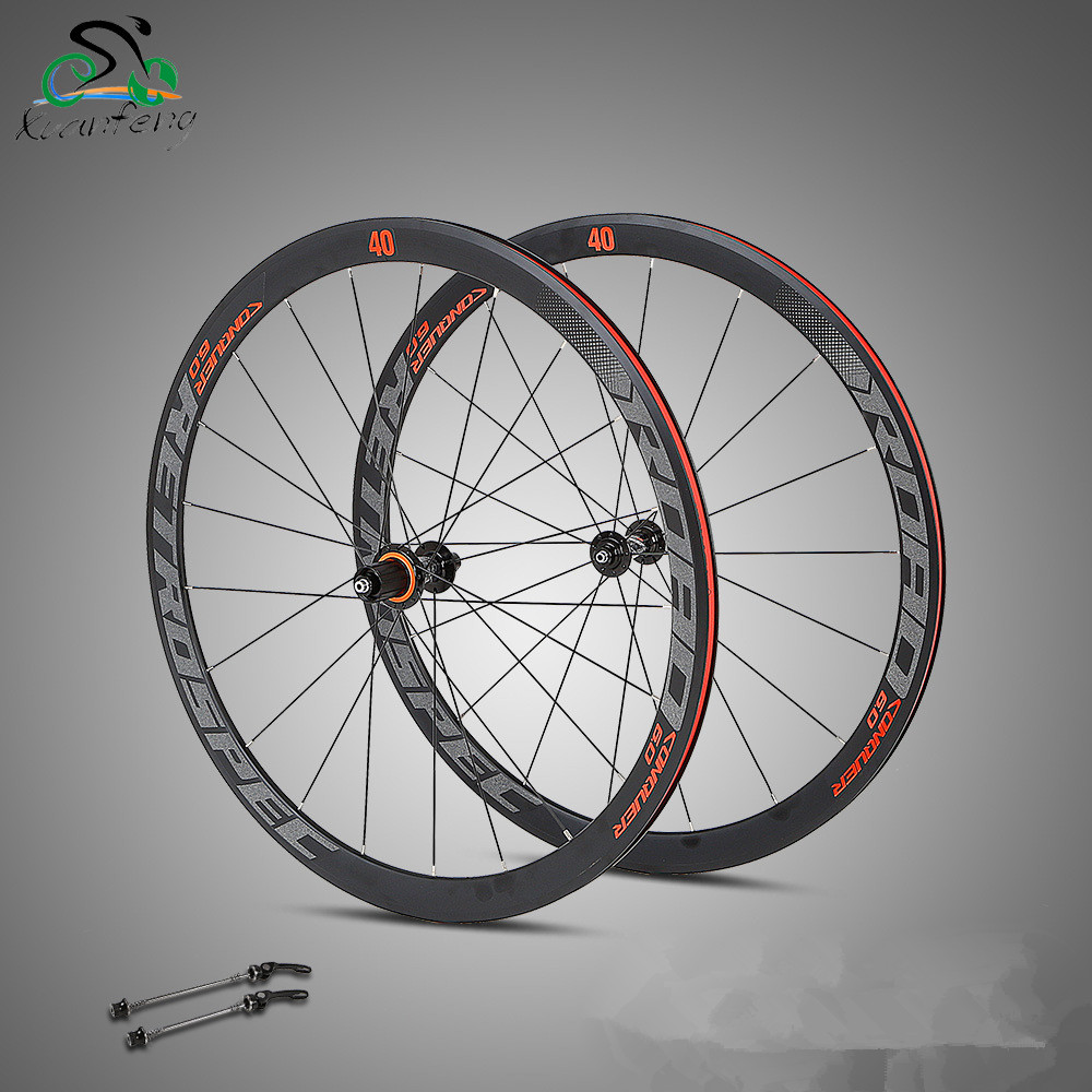 Ultra Light bmx Road Bike wheel 700C Aluminium alloy 8/9/10/11S bicycle wheels 18-21H 4 Bearing bike parts 1pcs magnesium alloy single speed fixed gear bike wheels 700c road racing venues inch wheel bicycle accessories