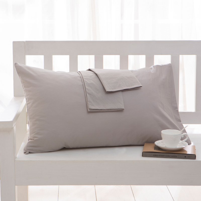 100% Cotton Pillow Case Solid Color Bed Pillowcases Standard Pillow Cover Bedding Bedroom Multi-size Optional Wholesale