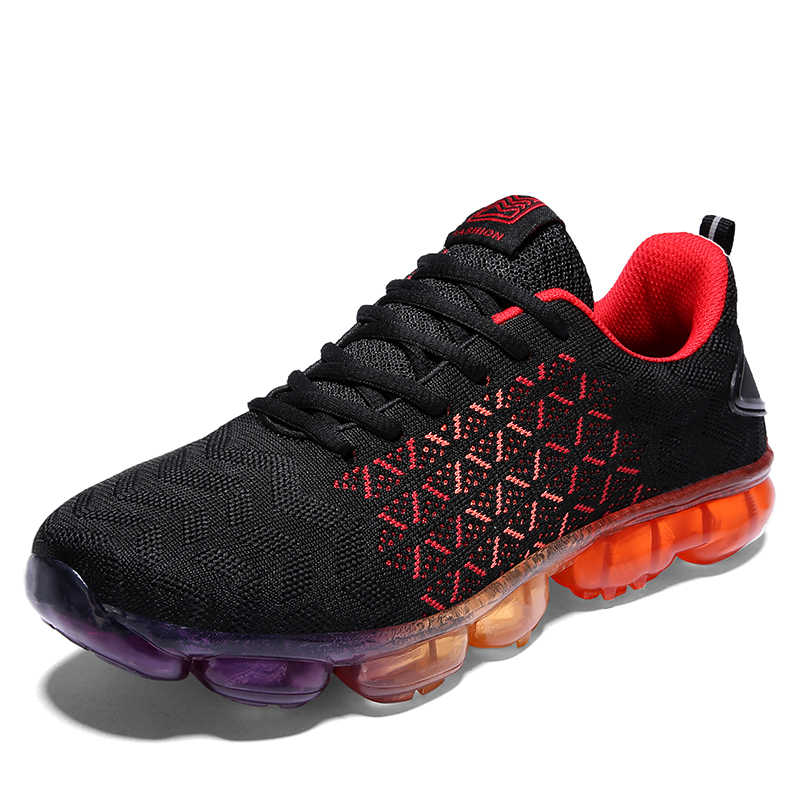 Men's sport running shoes weaving multicolor men sneakers breathable mesh outdoor athletic shoe light male shoe size EU 39-44