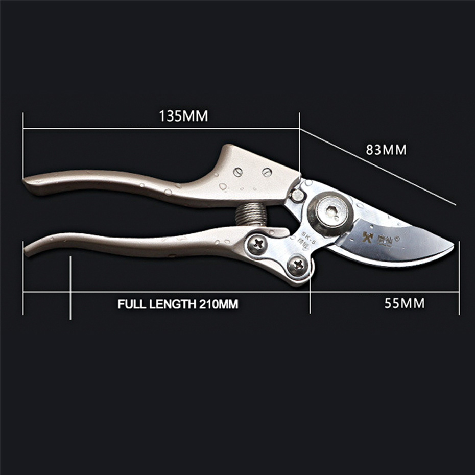 Image 5 - Pruning tools SK5 High Carbon Steel Fruit Tree Pruning Scissors Garden Pruning Sharp And Use Durable Knife Secateurs Scissors-in Pruning Tools from Tools