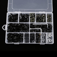 1 Sets Complete Motorcycle Windshield Fairing Bolts Nuts Screws Washer Kit Fastener Clips Screws Aluminum