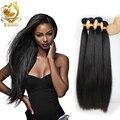 Russian Virgin hair silk straight 4 bundles Russian human hair weave extensions unprocessed 8A Virgin Hair queen hair products