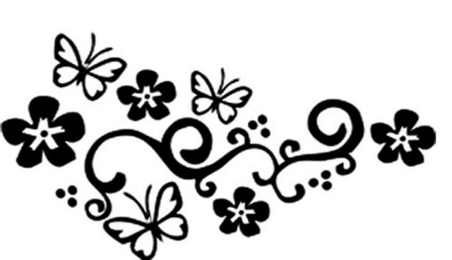 Reflective Tape Flower Vine Butterfly Car Stickers Car Accessories