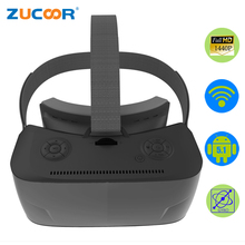 3D VR Glasses Virtual Reality Movie Game Box T08 All-In-One Android Head Helmet WiFi 2560*1440 Pixels Google Cardboard Quad-Core