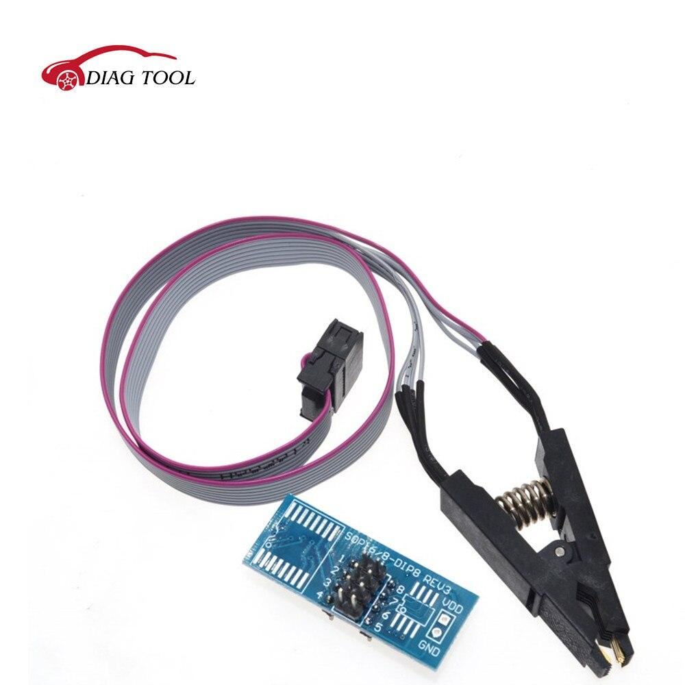 OIC8 SOP8 флэш-чип зажим для проверки ИС разъем Adpter BIOS/24/25/93 программатор