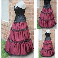 Custom madeR 537 Vintage Costumes 1860s Civil War Ball wedding Dress/Gothic Lolita Dress Victorian dresses/snow white dress