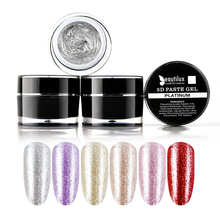 Beautilux 1pc Rose Gold Silver Platinum 3D Carving Gel Paste No Sticky Layer Nail Art Design Lacquer 10ml