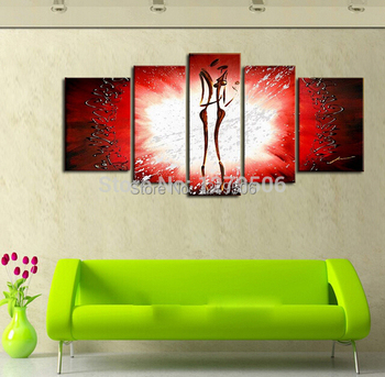 Modern Pictures Resounding Love Room Decor 100% Handmade Abstract Painted Canvas Art Hang On The Wall