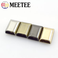Meetee 10Pcs Metal Zipper Tails Closed-end Zips Stopper for Handbag Luggage Leather Crafts Bag Hardware Accessories H4-3(China)