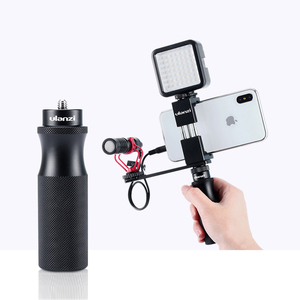 "Image 1 - מתכת מצלמה חכם טלפון יד לgopro 9 8 7 6 DJI אוסמו פעולה עבור RX0 השני VLOG כף יד ידית מייצב עם 1/4 ""בורג"