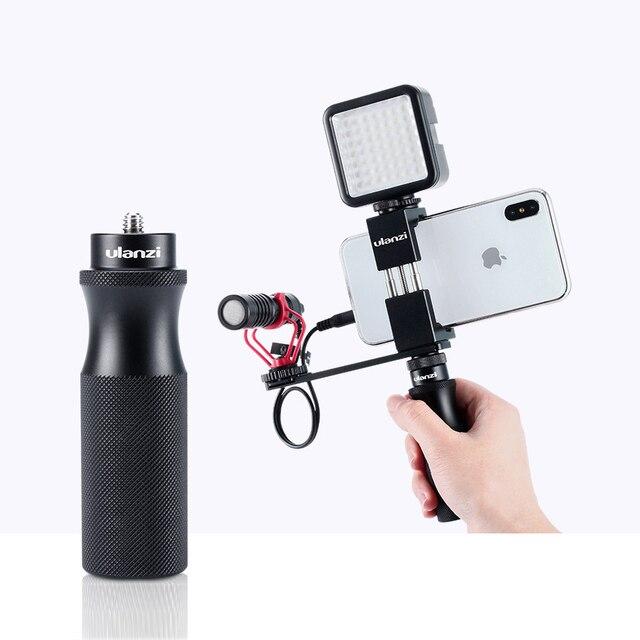"""מתכת מצלמה חכם טלפון יד לgopro 9 8 7 6 DJI אוסמו פעולה עבור RX0 השני VLOG כף יד ידית מייצב עם 1/4 """"בורג"""