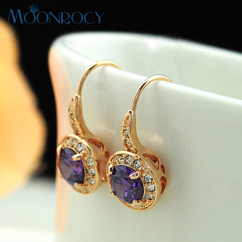 MOONROCY Free Shipping Cubic Zirconia Fashion Jewelry Wholesale Rose
