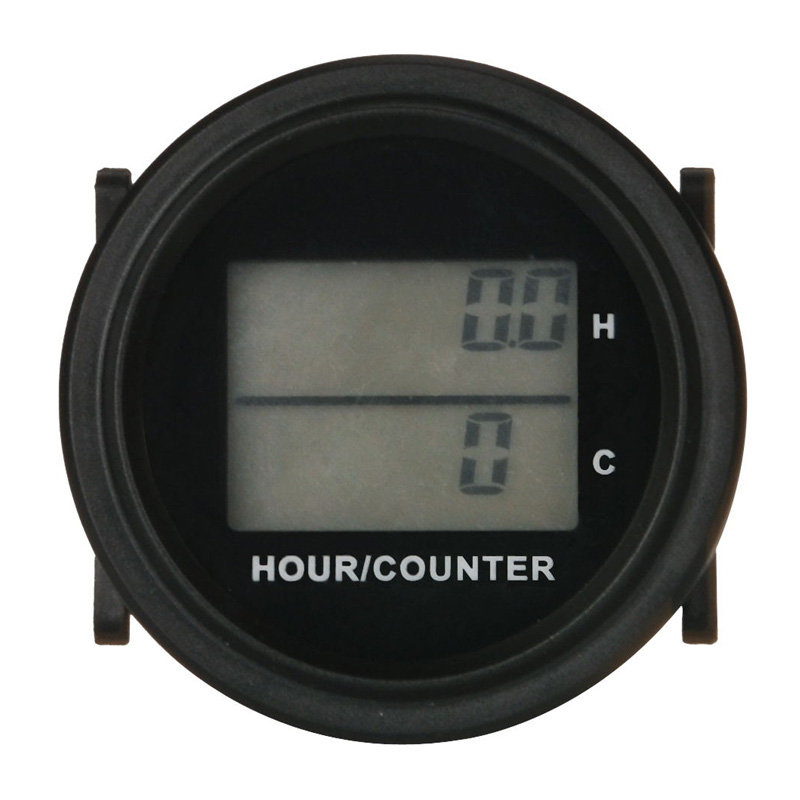 Large LCD DC 8-48V backlight counter and hour meter for diesel generator trencher trail zero turn mower lawn mower golf cart ATV