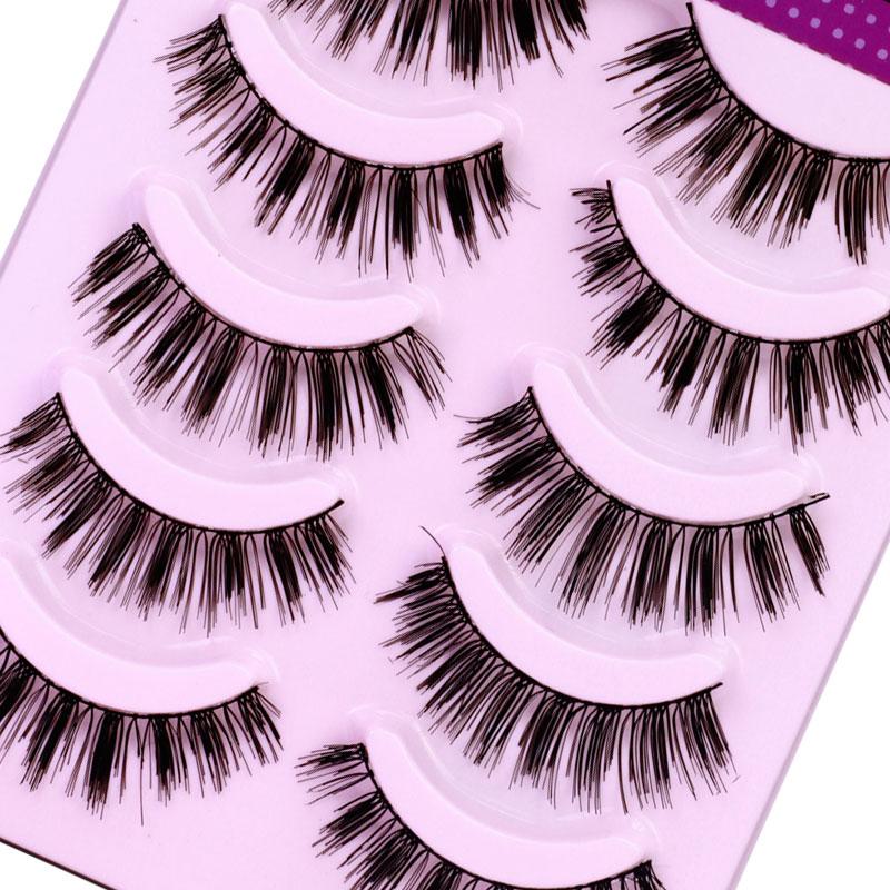 5 Pairs Handmade Extension Eyelash Natural Long False Eyelashes Beauty Makeup Maquillage Faux Cils Fake Eye Lashes #K11