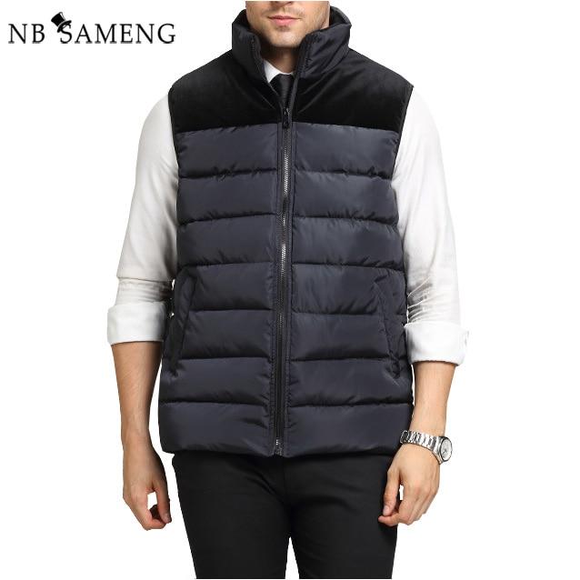 ФОТО New 2017 Men Winter Jacket Vintage Parka Warm Coat Vest With Hood Mens Cotton Padded Jackets Jaqueta Masculina Plus Size NSWT029