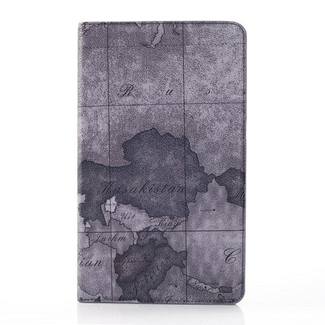 For Samsung Tab Pro 8.4 Map Print Pu Leather Stand Holder Cover Case for Samsung Galaxy Tab Pro SM-T320 T320 8.4 Inch Tablet
