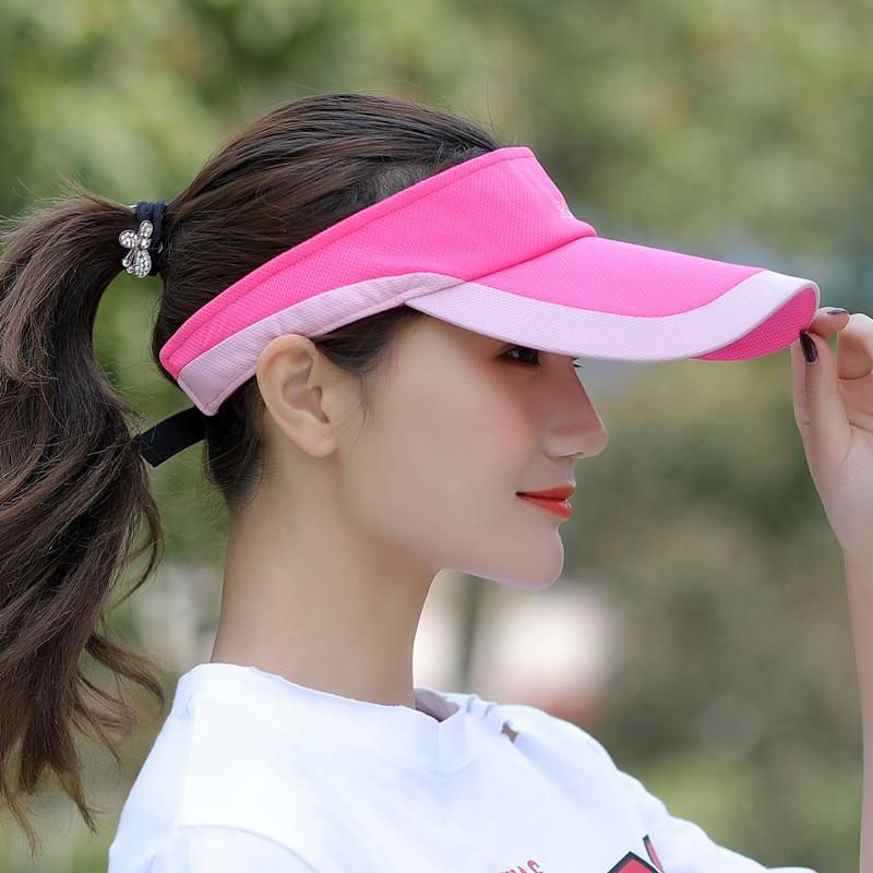 Kagenmo летняя Мужская Женская теннисная кепка без короны солнцезащитная Кепка бейсболка с козырьком - Цвет: B