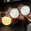 QIANBA 2016 Женщины Luxury Brand Натуральная Кожа Кристалл Кварцевые водонепроницаемые леди Стиль Бизнес Платье Relogios Моды Случайные Часы
