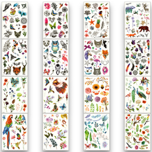 Temporary waterproof fake tattoo sticker color water transfer disposable man woman beautiful body art animal parrot butterfly