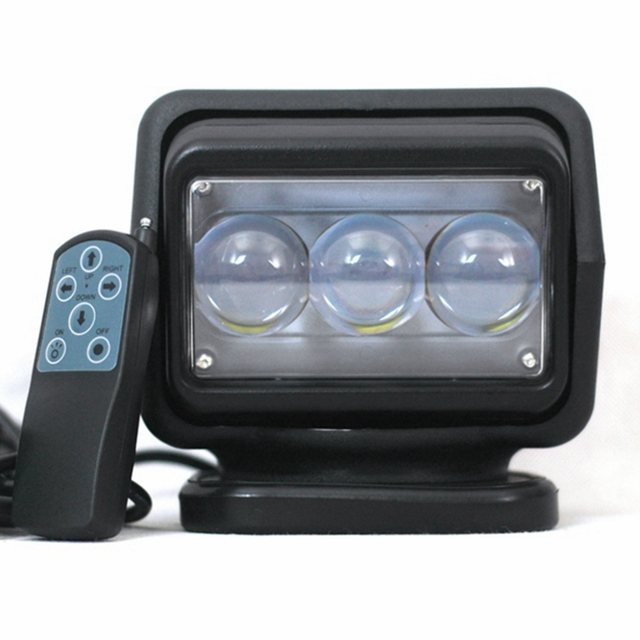 """1pcs 60w 7""""inch Led Remote control Searchlight 12v Spot LED Work searching Light for TRUCK SUV BOAT MARINE fishing camping"""