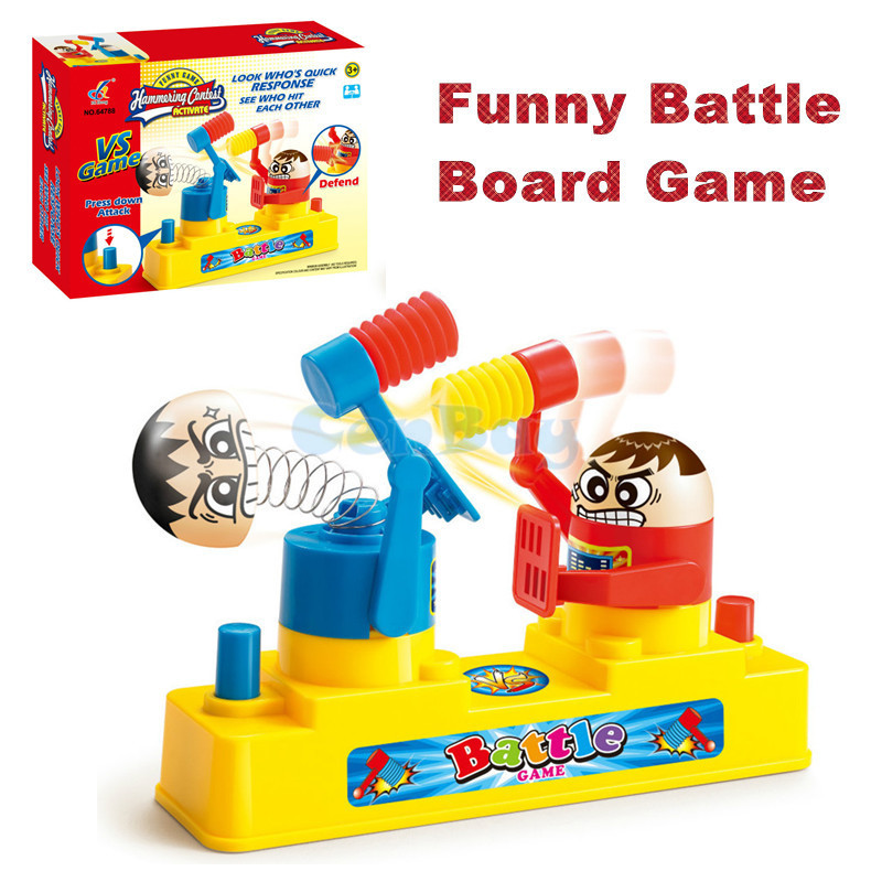 Kids Knock Hammering Contest Toys Parent-child Interactive Hammer Gaming Toys Desktop Battle Funny Party & Family Board Game