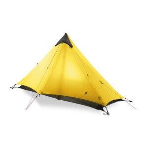 Image 5 - 3F UL dişli Lanshan 1 çadır açık 1 kişi Ultralight kamp çadırı 3 sezon profesyonel 15D Silnylon Rodless çadır