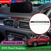 Car Styling ABS Car Central Control DVD CD Panel Decoration Sticker Sequins Auto Internal Accessories For Mazda CX 8 2018 2019
