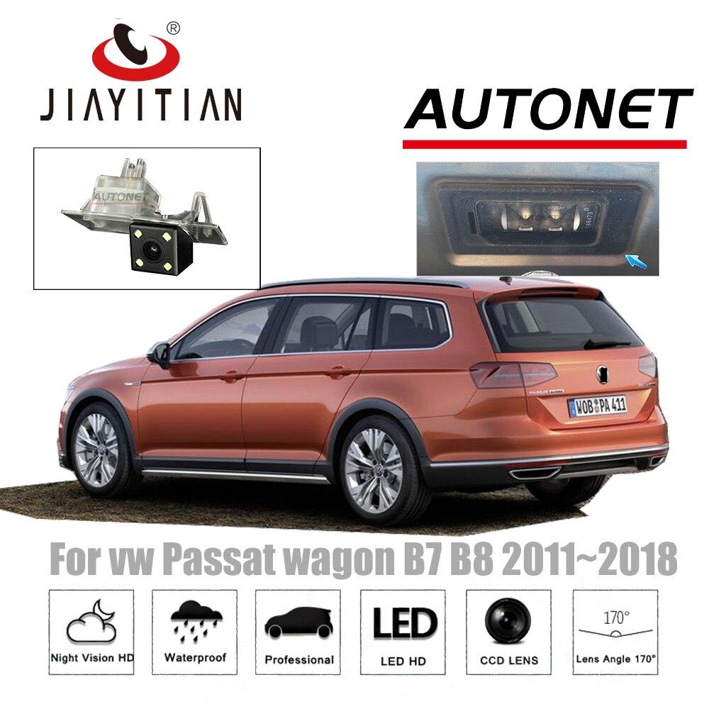 JIAYITIAN Rear View Camera For vw Passat Variat B7 Alltrack B8 2011~2018 CCD Night Vision Backup camera license plate camera цена