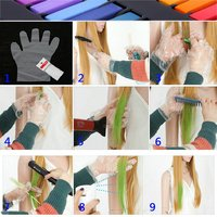 10Pcs High Quality Fashion Hair Color Cream Temporary Hair Dye Mascara Cream Non toxic DIY Hair Dye Pen Hair Care