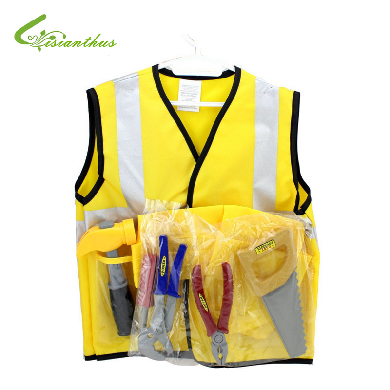 Boys Halloween Costumes Construction Worker Sets Cosplay Stage Wear Clothing Children Kids Party Clothes Free Drop Shipping New kids halloween costumes cosplay caribbean pirates costumes captain jack children role playing children party clothes