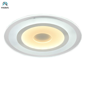 Modern Lustre Super Thin Acrylic Led Ceiling Light Remote Control Dimmable Round Ceiling Lamp Bedroom Luminarias Fixtures