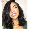 Short Wavy Virgin Brazilian Lace Front Wigs Short Bob Human Hair Wig 130 Density Full Lace Human Hair Wigs for Black Women