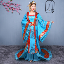 Hanfu Cosplay Asian national costume Ancient Chinese Costume Women Traditional Clothes Royal Lady Stage Dress