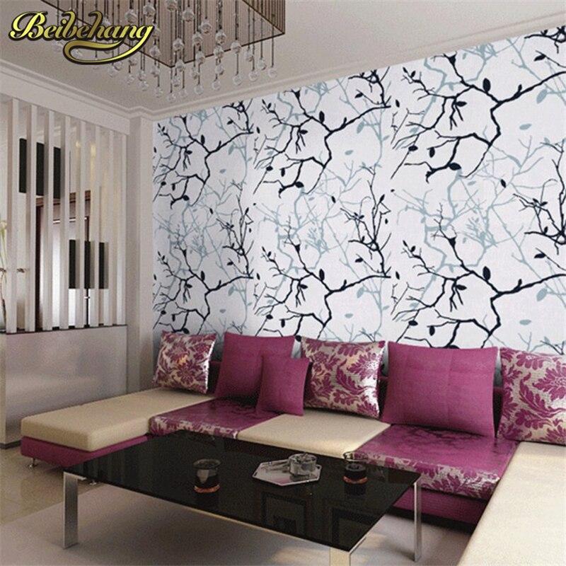 Beibehang arbre racines bouleau arbre Branches papel de parede 3d papier peint salle de repas salle de bain papier peint Mural Art déco revêtement Mural