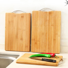 Thick Food Grade Bamboo Cutting Board with Handle, Health Classification Fruit Vegetable Chopping Block for Kitchen Cooking