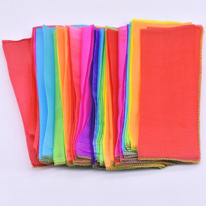 Rainbow Silk Streamer Multicolor 1000cm 20cm Magic Tricks Scarve Appearing Magia Magician Stage Accessories Gimmick Props