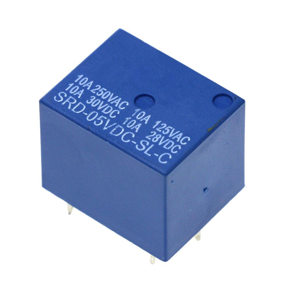 цена на DC 5V 12V SONGLE Power Relay SRD-05VDC-SL-C PCB Type SRD-12VDC-SL-C PCB Type