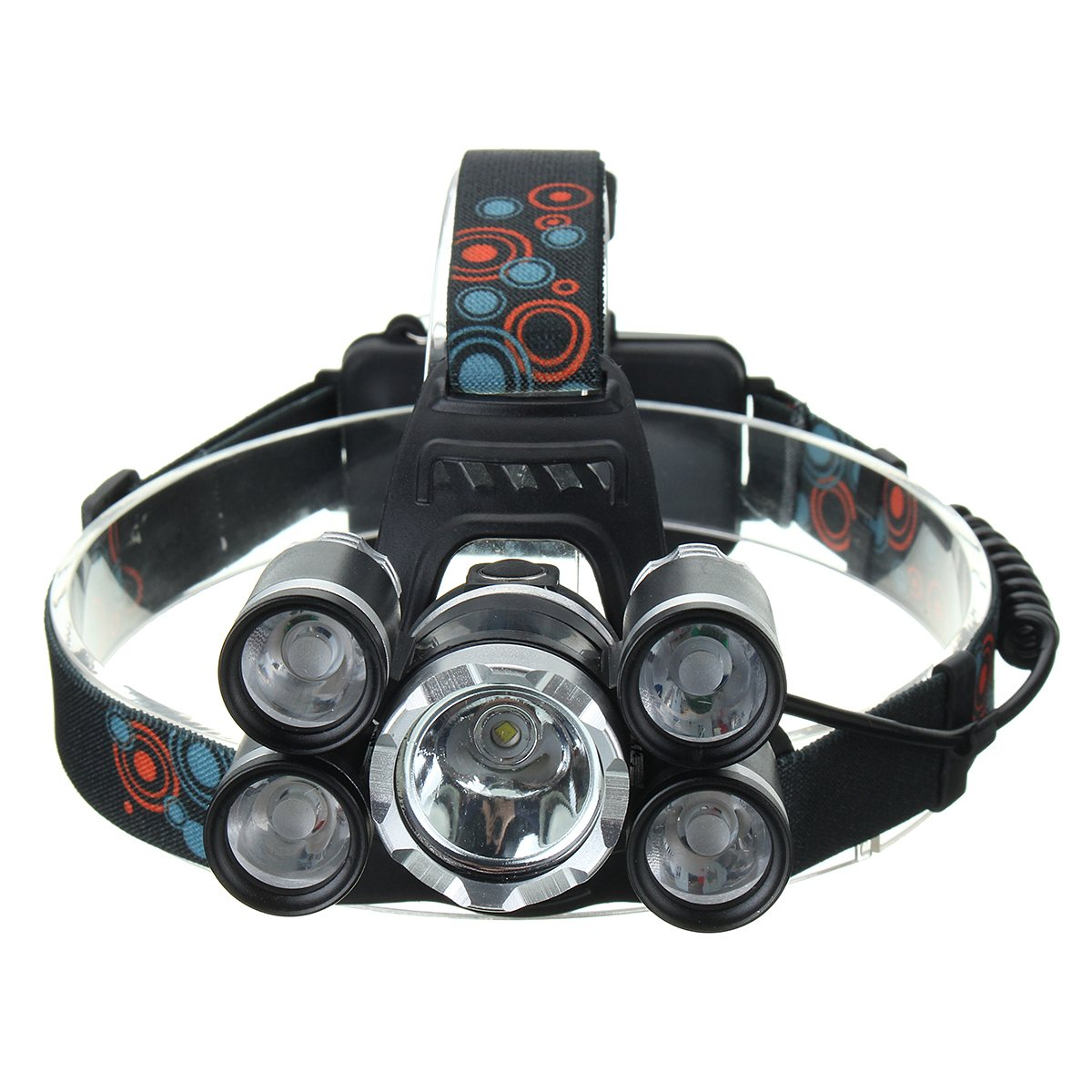 50000 Lumens 4 Modes XM-L T6 XPE Waterproof LED Headlamp Cycling Headlight Torch for Bicycle Bike Outdoor Camping New 3800 lumens cree xm l t6 5 modes led tactical flashlight torch waterproof lamp torch hunting flash light lantern for camping z93
