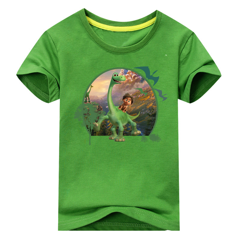 2018 Boy The Good Dinosaur T Shirt Children Summer Cartoon Printed Clothes Girl Cotton T-shirt Baby 10 Colors Tee Tops ACY005 2017 baby new batman printing clothes boy cartoon t shirt girl 9 colors t shirt children short sleeve tee tops for kids acy031
